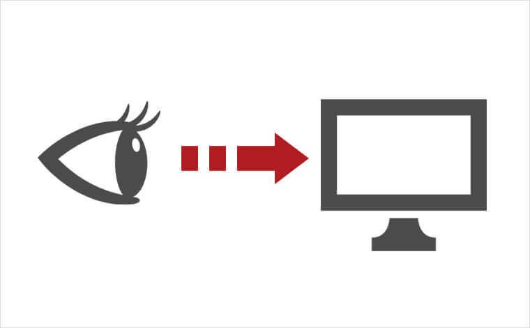 Watchの使い方図解。テレビを視聴している人物のイラスト画像。