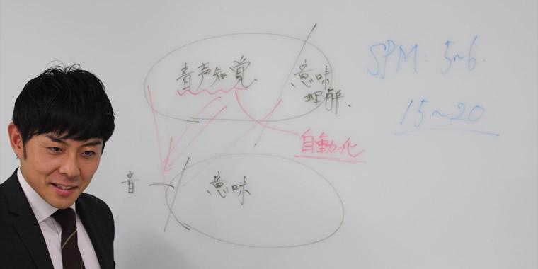 トレーニング法について設営する奥田さんの画像