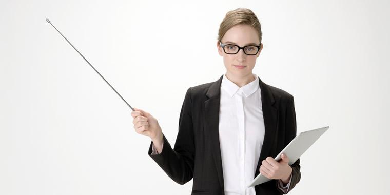 女性英語教師の画像